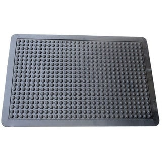 Mats Inc. Cloud Nine Ergonomic Bubble Utility Mat, Black