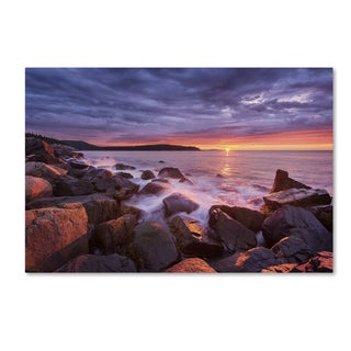 Michael Blanchette Photography 'Acadia Rocks' Canvas Art (As Is Item)