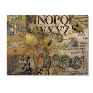 Nick Bantock 'Luggage Label' Canvas Art