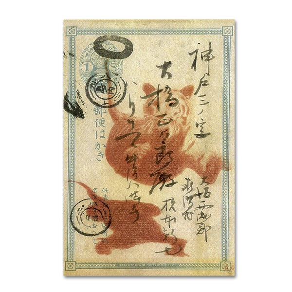 Nick Bantock 'Japan Tiger' Canvas Art