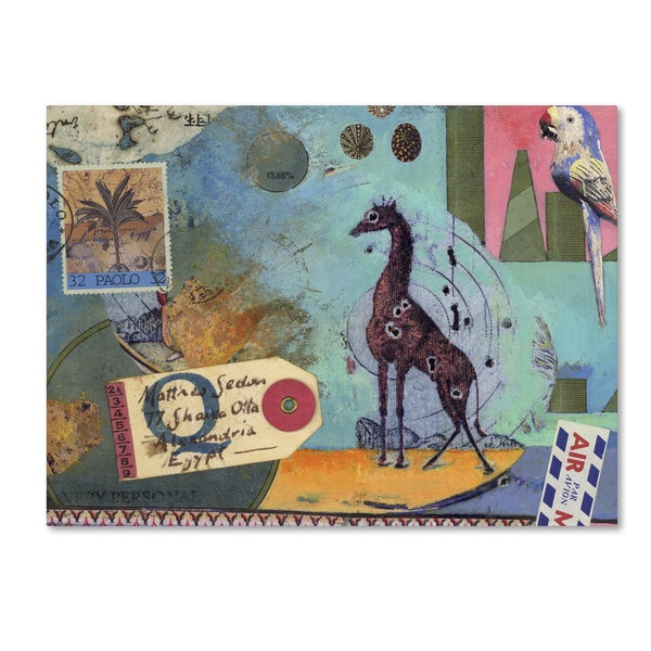 Nick Bantock 'Giraffe' Canvas Art