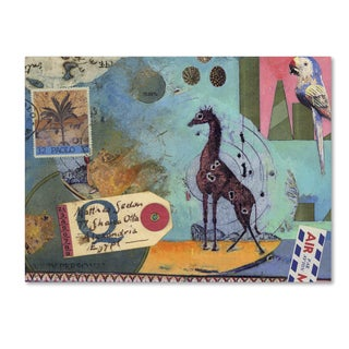 Nick Bantock 'Giraffe' Canvas Art
