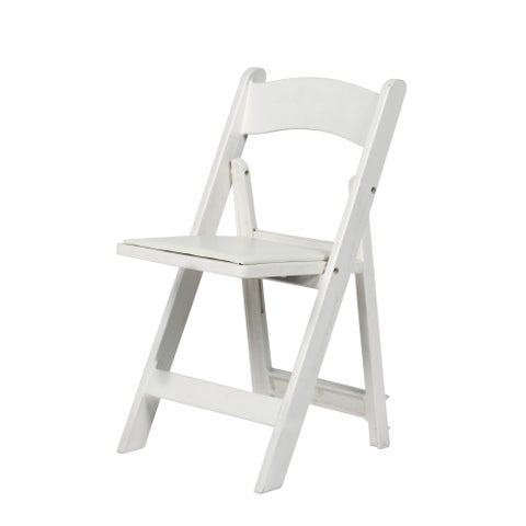 Max Resin Folding Chair with Vinyl Padded Seat