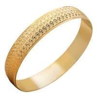 Gold Plated Brass Bangle