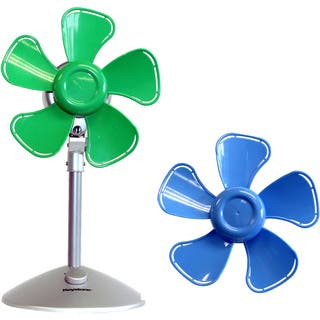 Keystone Blue/ Green Metal and Plastic Flower Fan (Option: Blue)|https://ak1.ostkcdn.com/images/products/12601887/P19397561.jpg?impolicy=medium