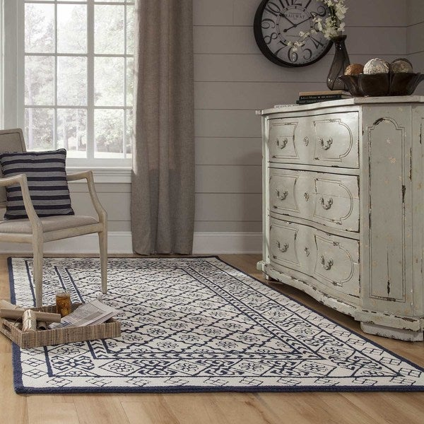 Momeni Newport Blue Hand-Tufted Wool Rug - 8' x 10'