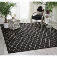 Nourison Outerbanks Black Pearl Area Rug (5' x 8') - 5' x 8'