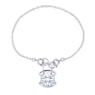 Medallion Charm White Diamond Bracelet (1/20 CT)
