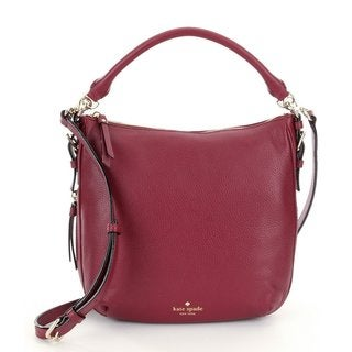 Kate Spade Cobble Hill Small Ella Merlot Leather Satchel Handbag