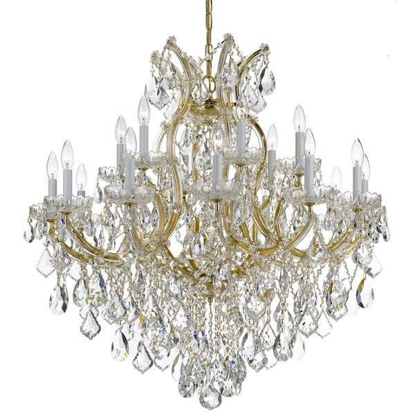 Crystorama Maria Theresa 19-light Gold/Swarovski Spectra Crystal Chandelier - Gold