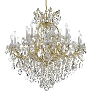Crystorama Maria Theresa Collection 19-light Gold/Swarovski Spectra Crystal Chandelier