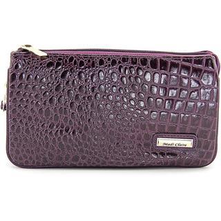 Madi Claire Women's 4973 Purple Leather Handbag