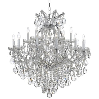 Crystorama Maria Theresa Collection 19-light Polished Chrome/Swarovski Strass Crystal Chandelier