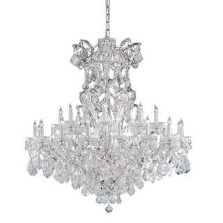 Crystorama Maria Theresa Collection 25-light Polished Chrome/Swarovski Strass Crystal Chandelier