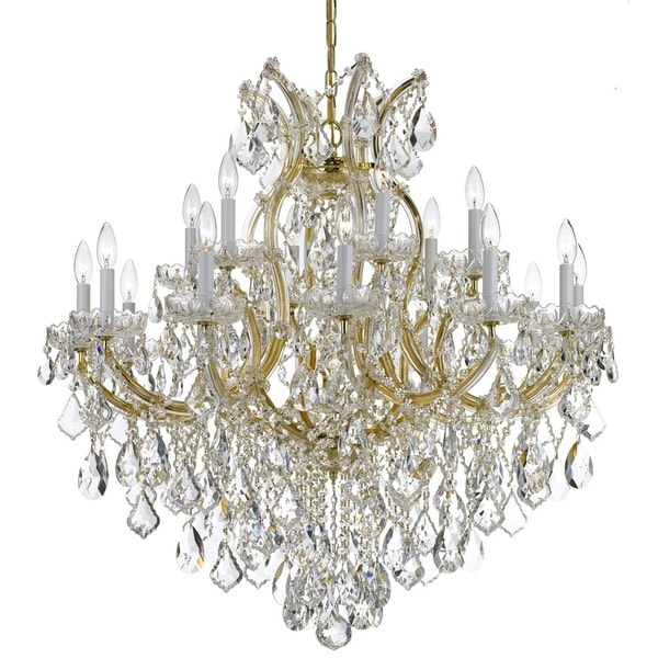 Crystorama Maria Theresa 19-light Gold/Swarovski Strass Crystal Chandelier - Gold