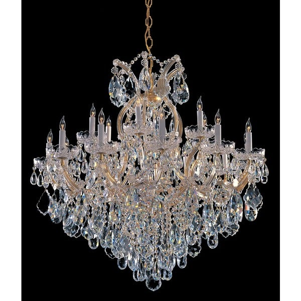 Crystorama Maria Theresa Collection 19-light Gold/Crystal Chandelier