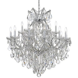 Crystorama Maria Theresa Collection 19-light Polished Chrome/Swarovski Spectra Crystal Chandelier