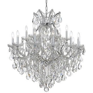 Crystorama Maria Theresa Collection 19-light Polished Chrome/Crystal Chandelier