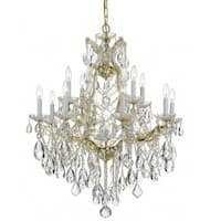 Crystorama Maria Theresa 13-light Gold/Swarovski Strass Crystal Chandelier - Gold