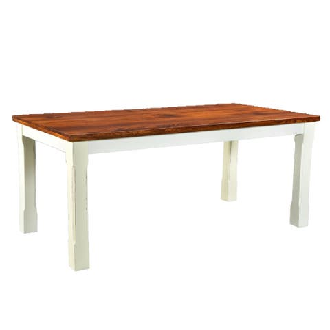 Handmade Mysore Farmhouse Chic Dining Table - Brown