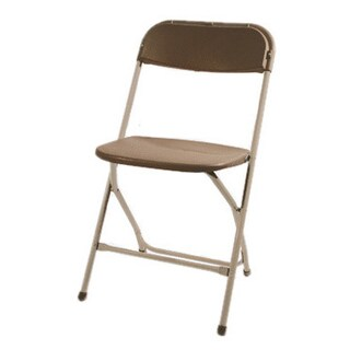 Max Black Plastic Folding Chair with Black Frame