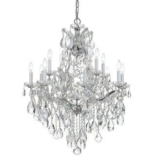 Crystorama Maria Theresa Collection 13-light Polished Chrome/Swarovski Strass Crystal Chandelier