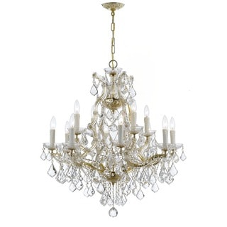 Crystorama Maria Theresa Collection 13-light Gold/Swarovski Spectra Crystal Chandelier
