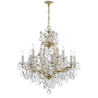 Crystorama Maria Theresa Collection 13-light Gold/Swarovski Strass Crystal Chandelier