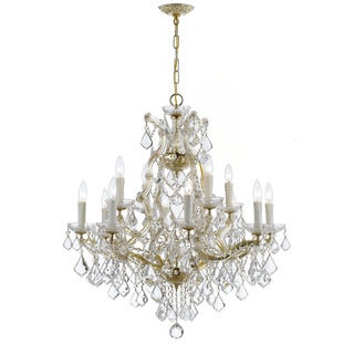 Crystorama Maria Theresa Collection 13-light Gold/Italian Crystal Chandelier