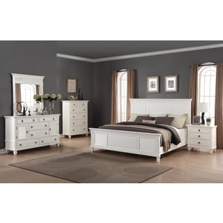 Regitina White 5-piece Queen-size Bedroom Furniture Set