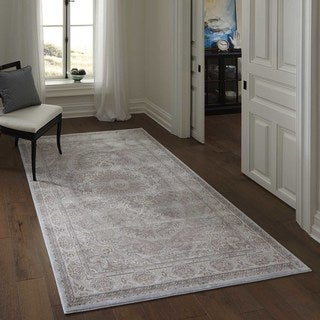 """Machine Made Antiquity Scallop Medallion Rayon from Bamboo Rug (8' x 11'2"""")"""