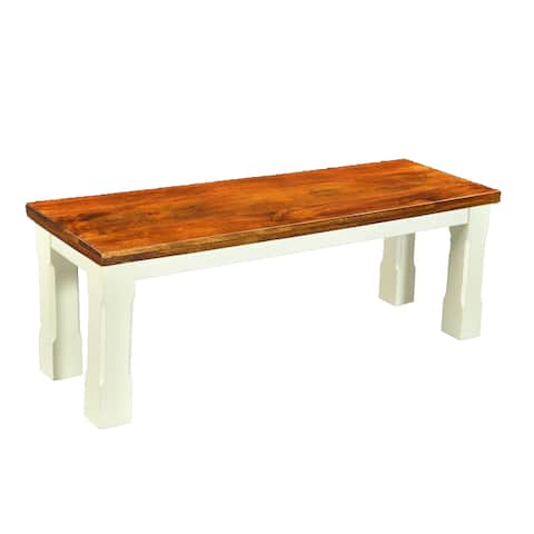 Timbergirl Mysore Farmhouse Chic Bench