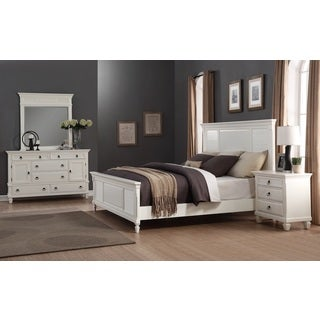 Regitina White 4-Piece Queen-size Bedroom Furniture Set