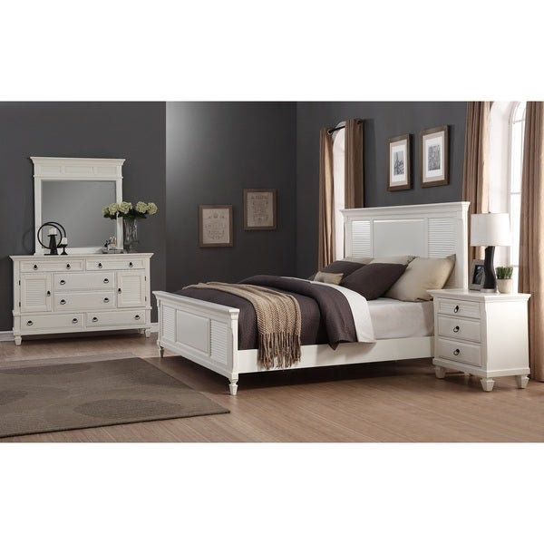 Bedroom Furniture Sets Online: Shop Regitina White 4-Piece Queen-size Bedroom Furniture