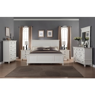Regitina White 6-Piece King-size Bedroom Furniture Set