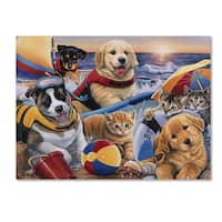 Jenny Newland 'Beach Buddies' Canvas Art