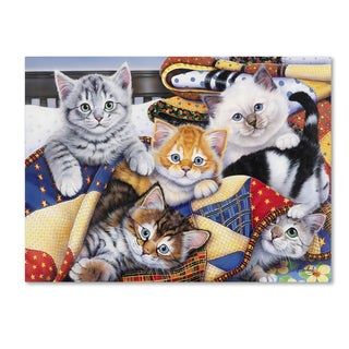 Jenny Newland 'Cozy Kittens' Canvas Art