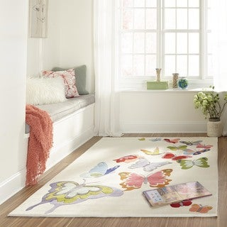 Hand-Tufted Momeni 'Lil Mo Butterfly Garden Polyester Rug (8' x 10')