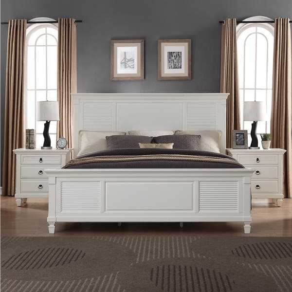 Shop Regitina White 5-Piece King-size Bedroom Furniture Set ...