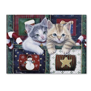 Jenny Newland 'Christmas Calendar Kittens' Canvas Art