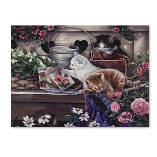Jenny Newland 'Playful Kittens' Canvas Art