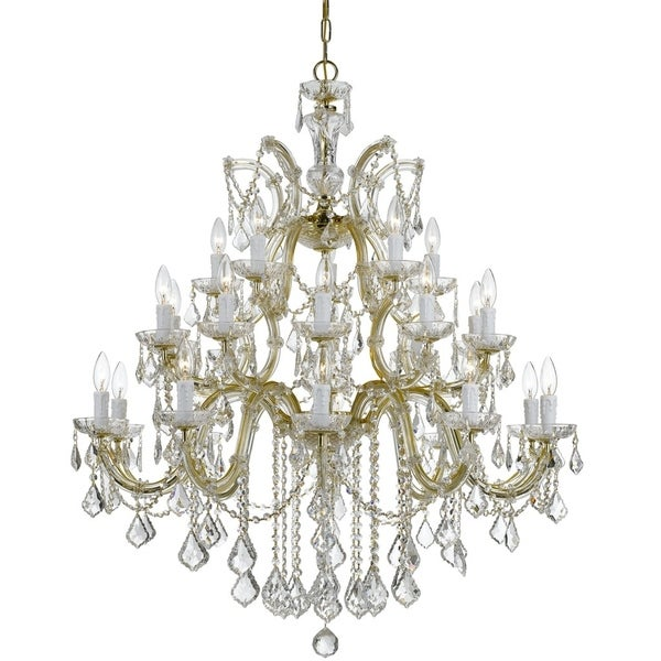 Crystorama Maria Theresa 26-light Gold/Swarovski Spectra Crystal Chandelier - Gold