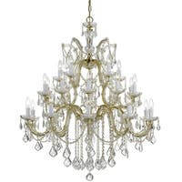 Crystorama Maria Theresa 26-light Gold/Swarovski Spectra Crystal Chandelier - Gold