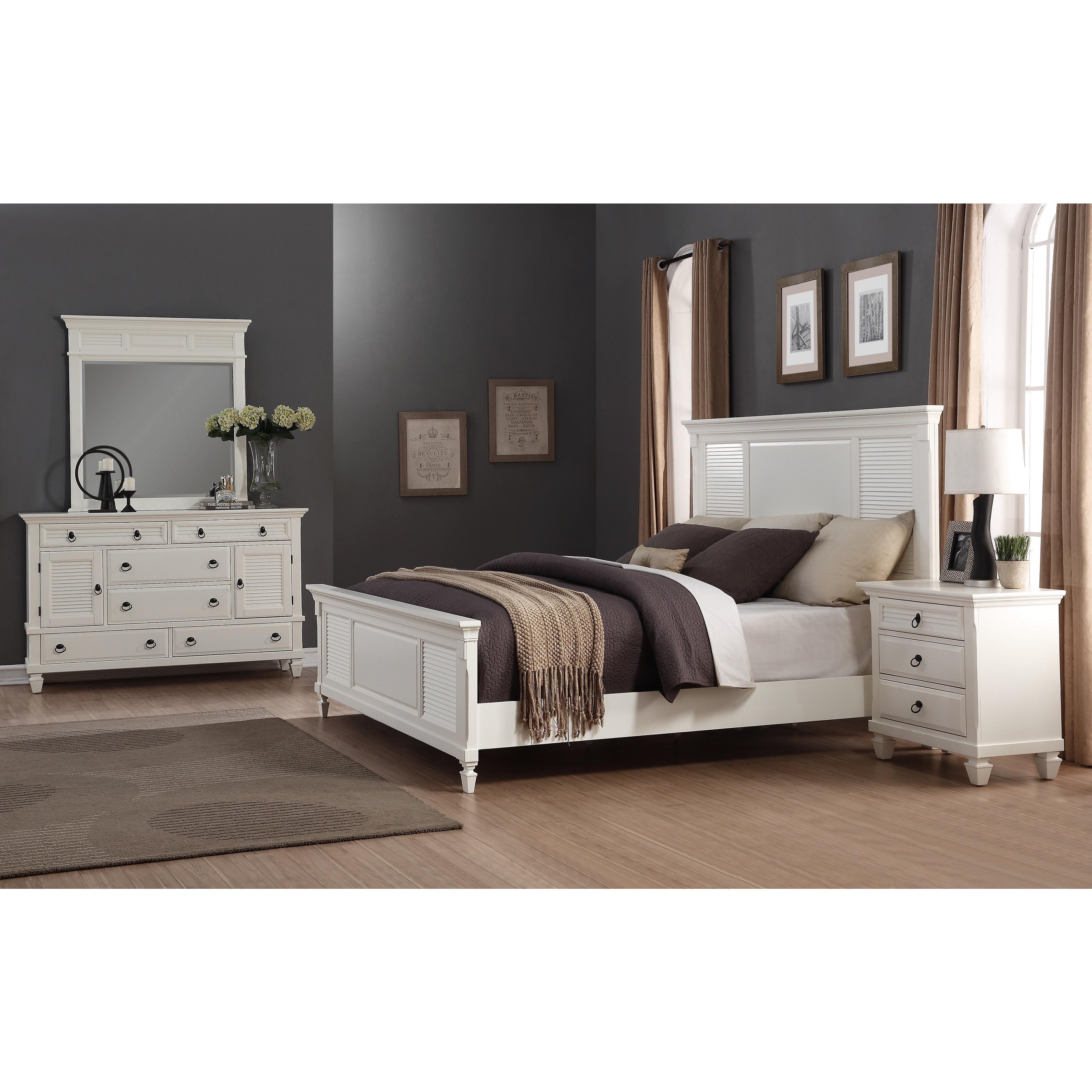 the best attitude da487 c5887 Regitina White 4-Piece King-size Bedroom Furniture Set