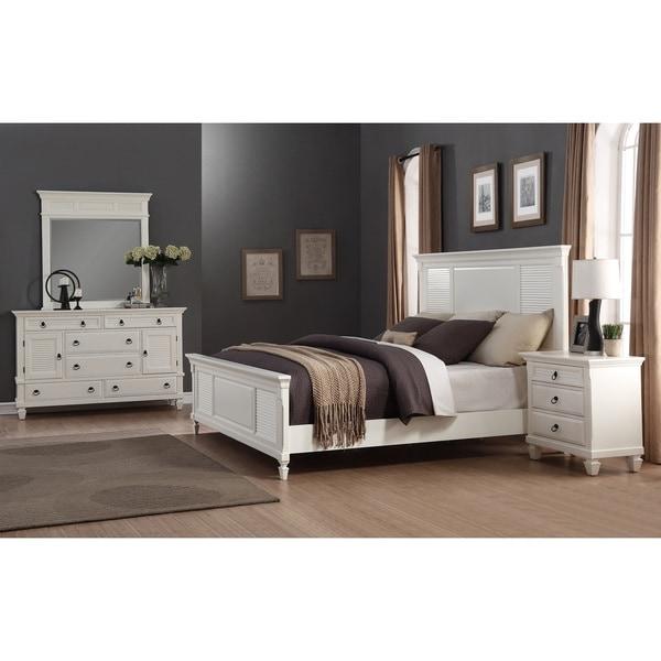 regitina white 4piece kingsize bedroom furniture set
