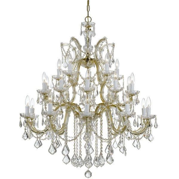 Crystorama Maria Theresa 26-light Gold/Crystal Chandelier - Gold