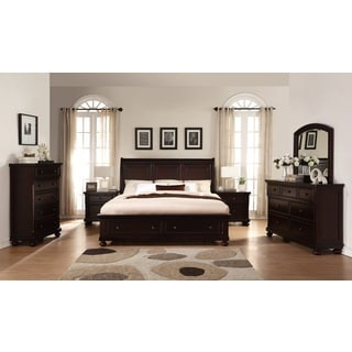 Brishland Rustic Cherry Queen-size Storage Bedroom Set