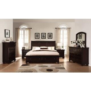 Brishland Rustic Cherry Queen Size Storage Bedroom Set