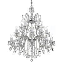 Crystorama Maria Theresa Collection 26-light Polished Chrome/Swarovski Elements Spectra Crystal Chandelier