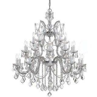 Crystorama Maria Theresa Collection 26-light Polished Chrome/Swarovski Strass Crystal Chandelier